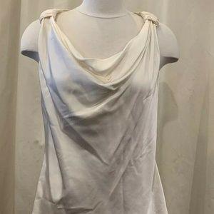 NWOT St. John Ivory Silk Sleeveless Blouse 00 - 07